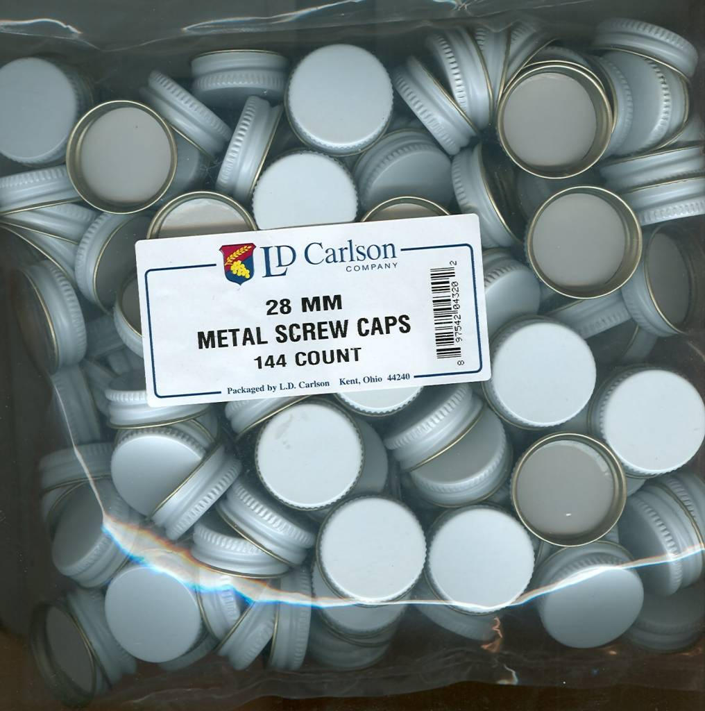 28mm Metal Screw Caps (144 Bag)