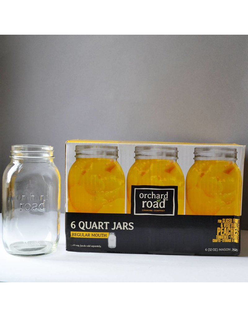 32oz Regular Orchard Road Jars Quart Mouth