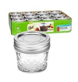 4 Oz Quilted Crystal Jar Jars