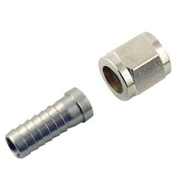 Gas Nut 5/16 Barb Stem And 1/4  Swivel Set Connector