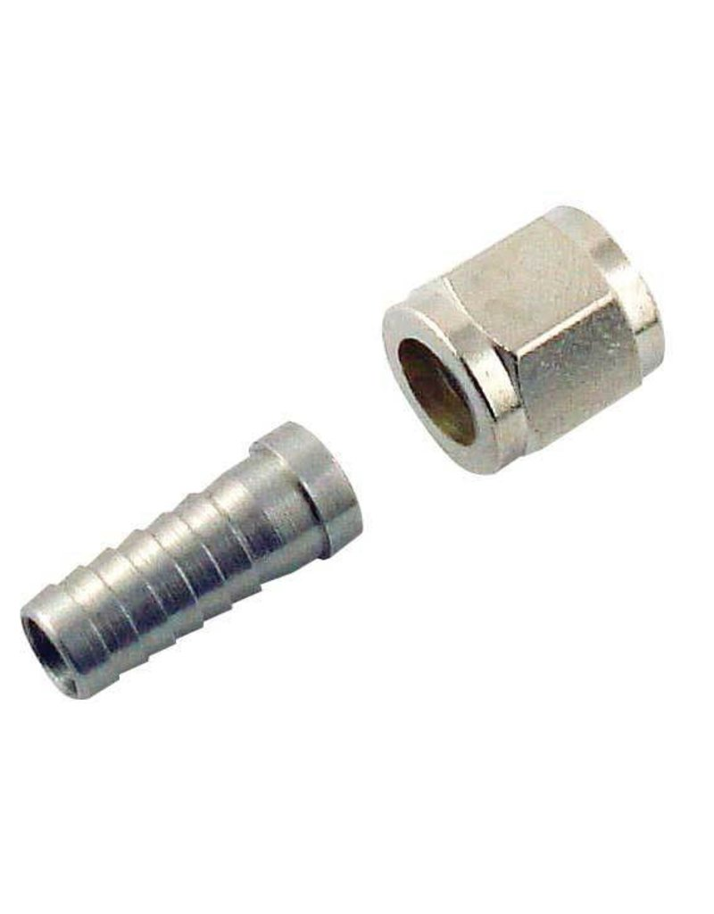 Gas Nut 5/16 Barb Stem And 1/4  Keg Connector