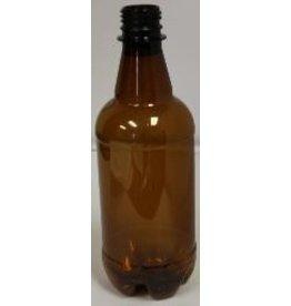 500ml Amber P.E.T. Bottles 24/ Plastic Bottles