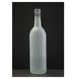 750 Ml Frosted Wine Bottle
