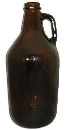 1/2 Gallon Amber Jug \ Growler (Single) 1/2AJS