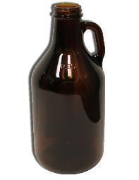 1/4 Gallon 32oz Amber Jug \ Growler (Single) 1/4ajs