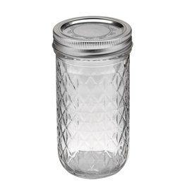 Ball 12oz Quilted Crystal Jars Case Of 12