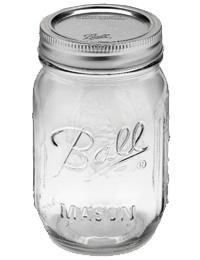 Ball 1 PInt (16 oz) Regular Mouth Jar Jars