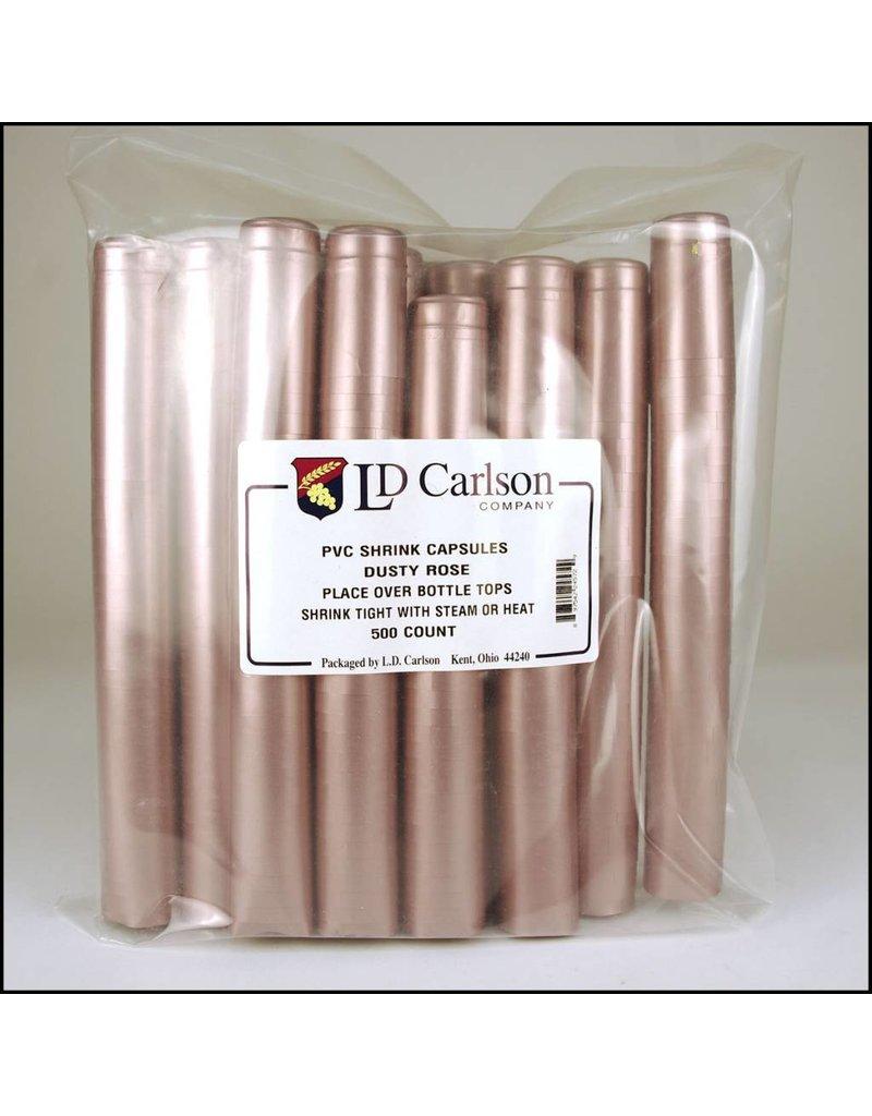 Dusty Rose PVC Shrink 500 Pack