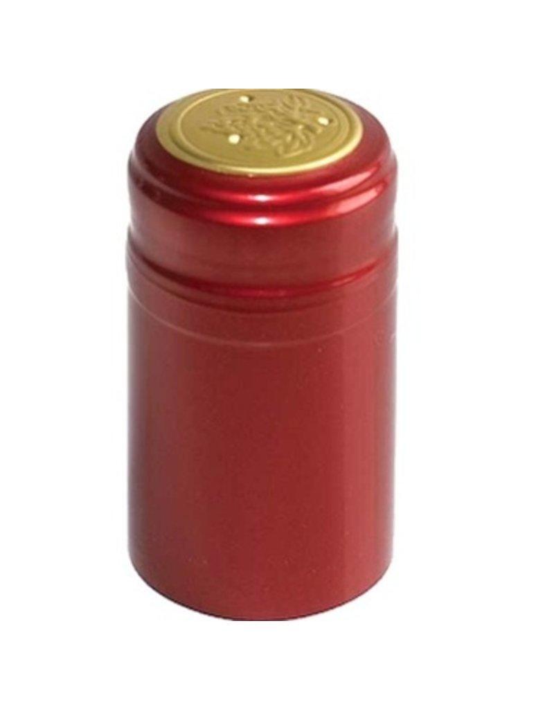 Metallic Ruby Red PVC Shrink 30/Bag