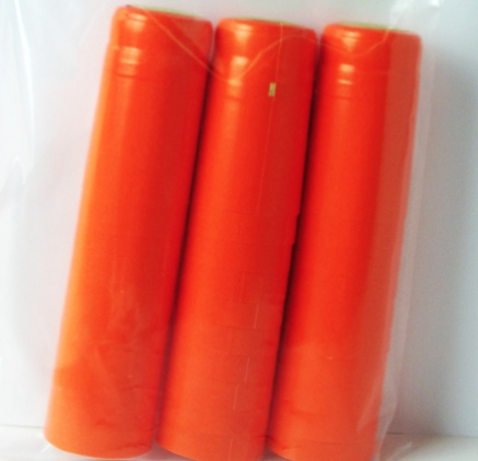 Orange PVC Shrink 500 Pack