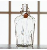 8oz Glass Flask Fliptop Single