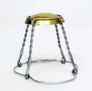 Mini Gold Cap Wirehoods Cage single