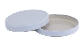 110 Lug White Plastisol (Each) Lid For Gallon Jar