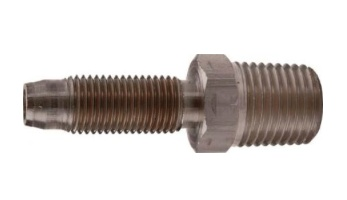 Foxx Equipment Male Hose Stem 5/16B x 1/4MPT Brass