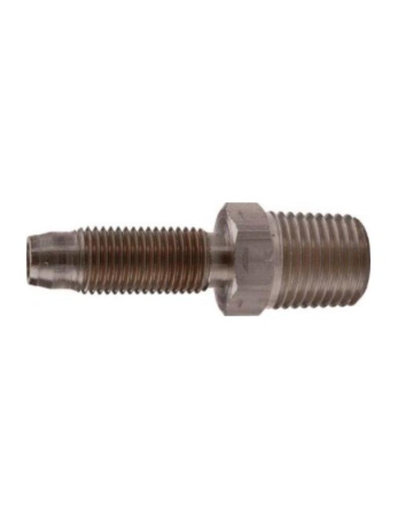 Foxx Equipment BrassMale Hose Stem 3/8B x 1/4MPT