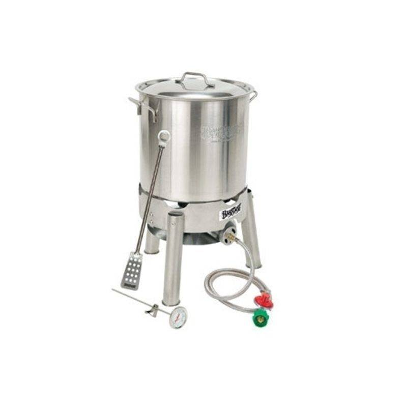 "Bayou Classic Bayou Classic Starter Kit 30-Qt. Econo Pot, Cooker, Paddle, 12"" Therm Kit"