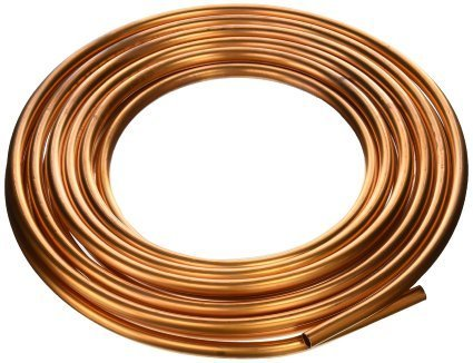 Copper Tubing, 3/8 X 25'