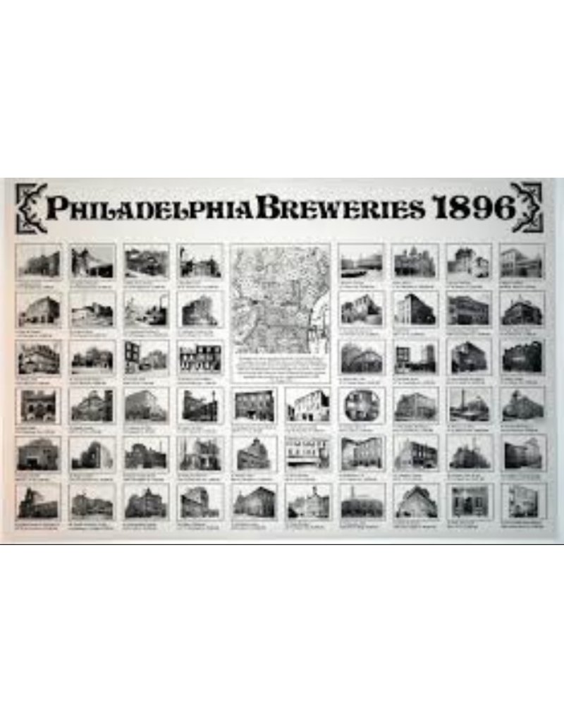 Philadelphia Breweries 1896 Poster Rich Wagner
