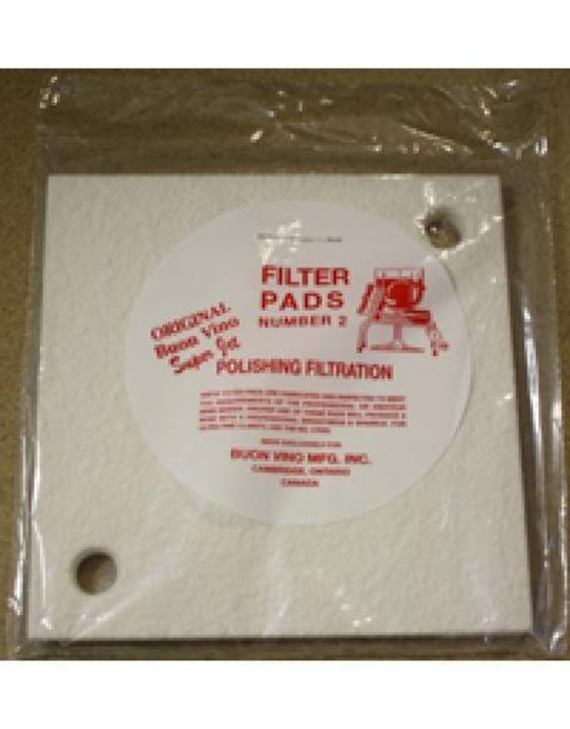 BUON VINO FILTER SUPER PAD #2 POLISH MICRON 1.8 (3/PKG)