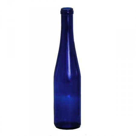 375ml Stretch Cobalt Bottle Blue Hock 24/Case