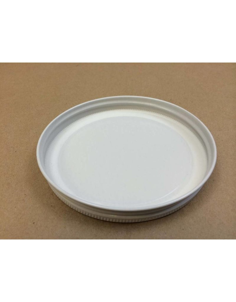 82 Lug White Plastisol Lid For Half Gallon Jar (Each)