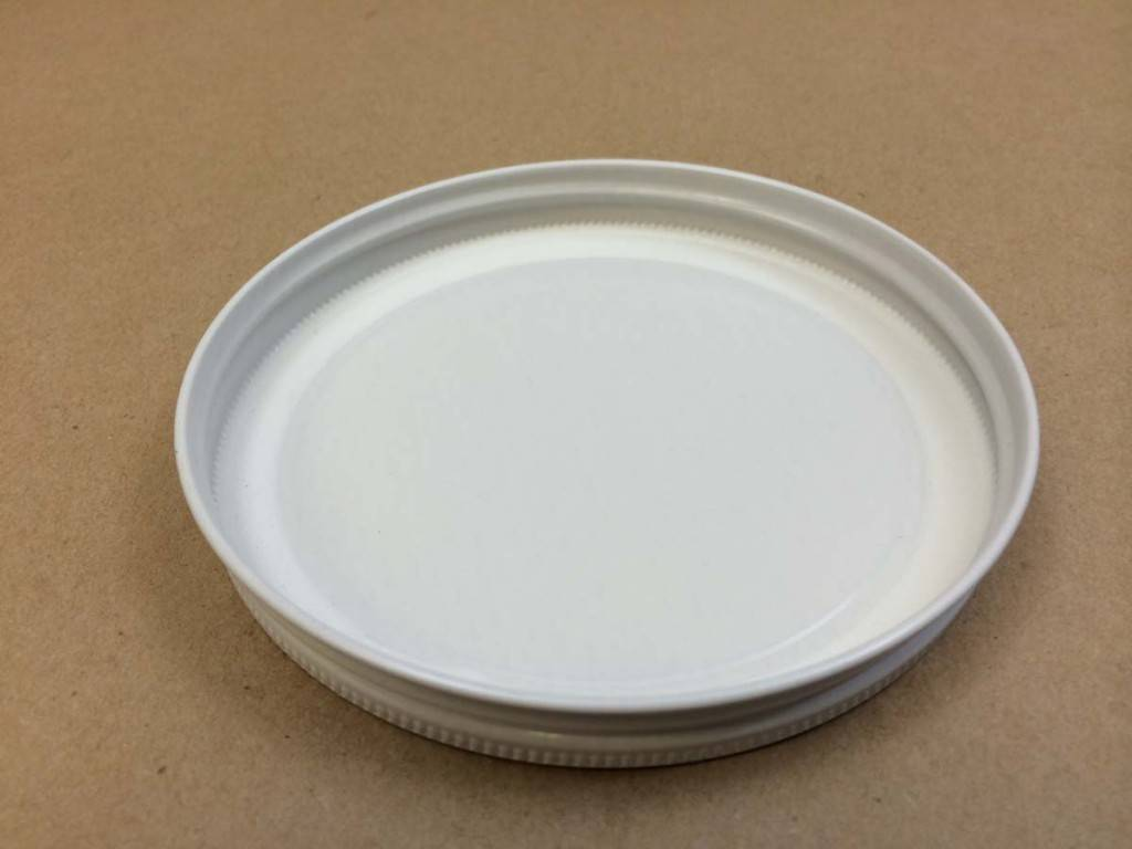 82 Lug White Plastisol Lid For Half Gallon Jar (Each)