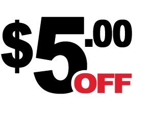 5 Dollar Off Coupon (DD)
