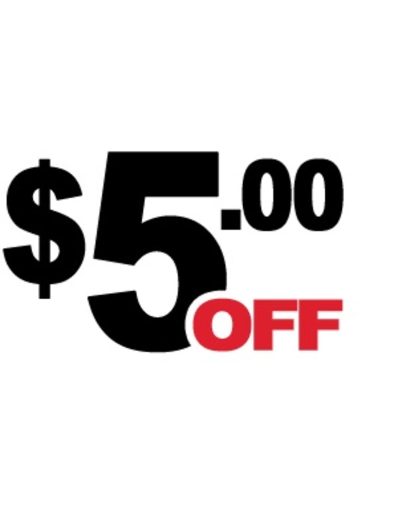 5 Dollar Off Coupon (DD)