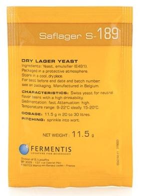 Fermentis Saflager S-189 Dry Lager Yeast 11.5 GRAMS