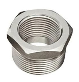 Hex Bushing, 1/2fpt X 3/4mpt SS