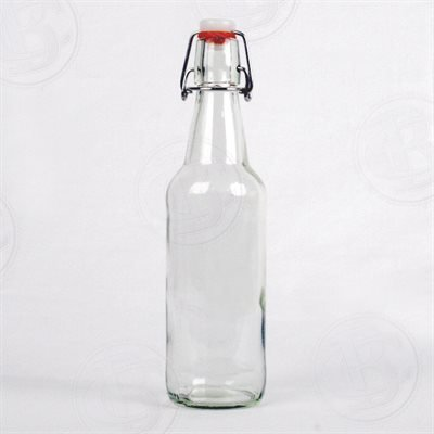 Clear Flip Top Bottles, 500 ml - Case/12