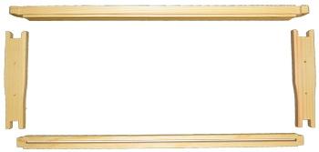 6-1/4'' Frame (Medium) Wedge Top/Divided Bottom