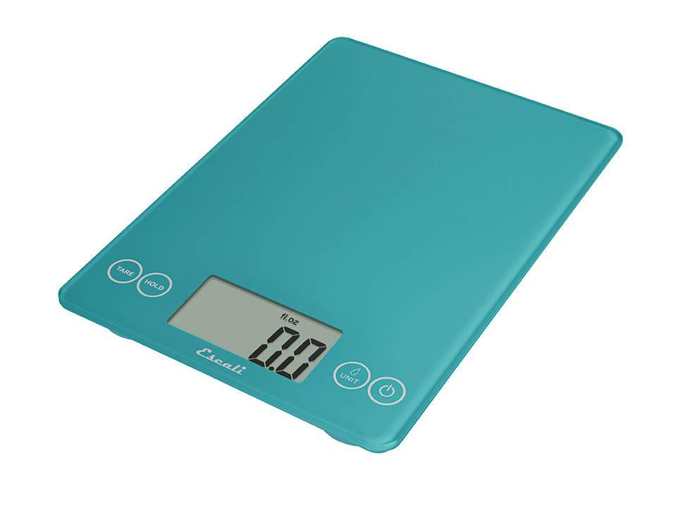 Escali Arti Digital Glass Scale - Peacock Blue
