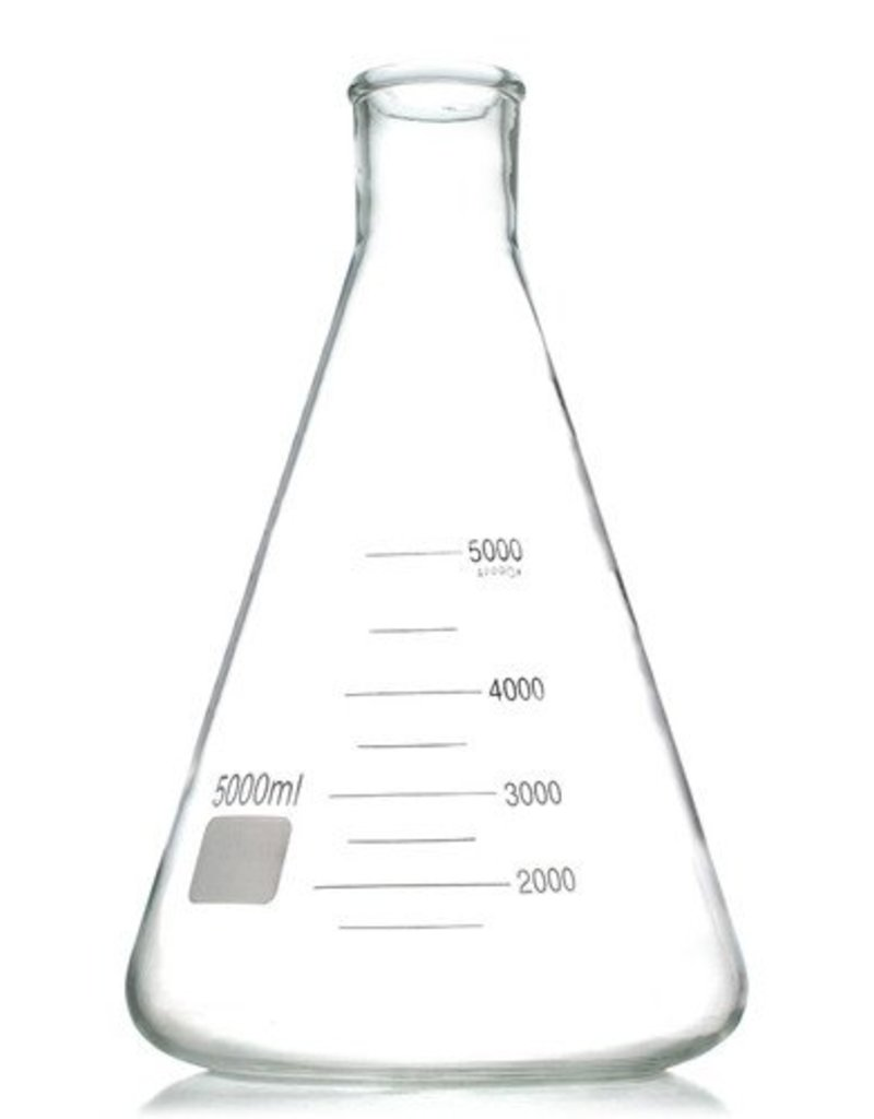 Erlenmeyer Flask 5000ml (Uses #13 Stopper)