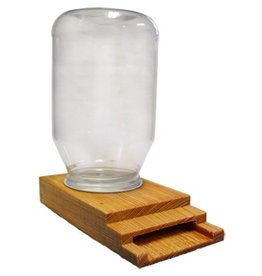 Combo Cypress Entrance Feeder and Plastic Quart Jar