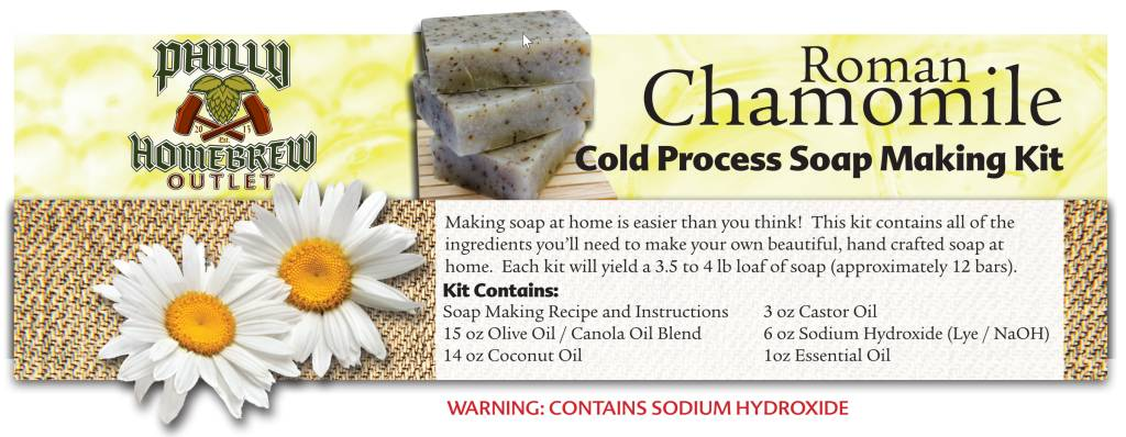 Philly Homebrew Outlet Chamomile Roman CP Soap Making Kit