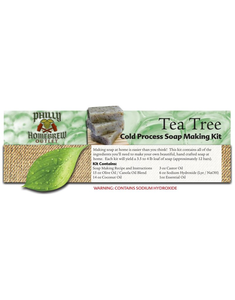 Philly Homebrew Outlet Tea Tree CP Soap Making Kit