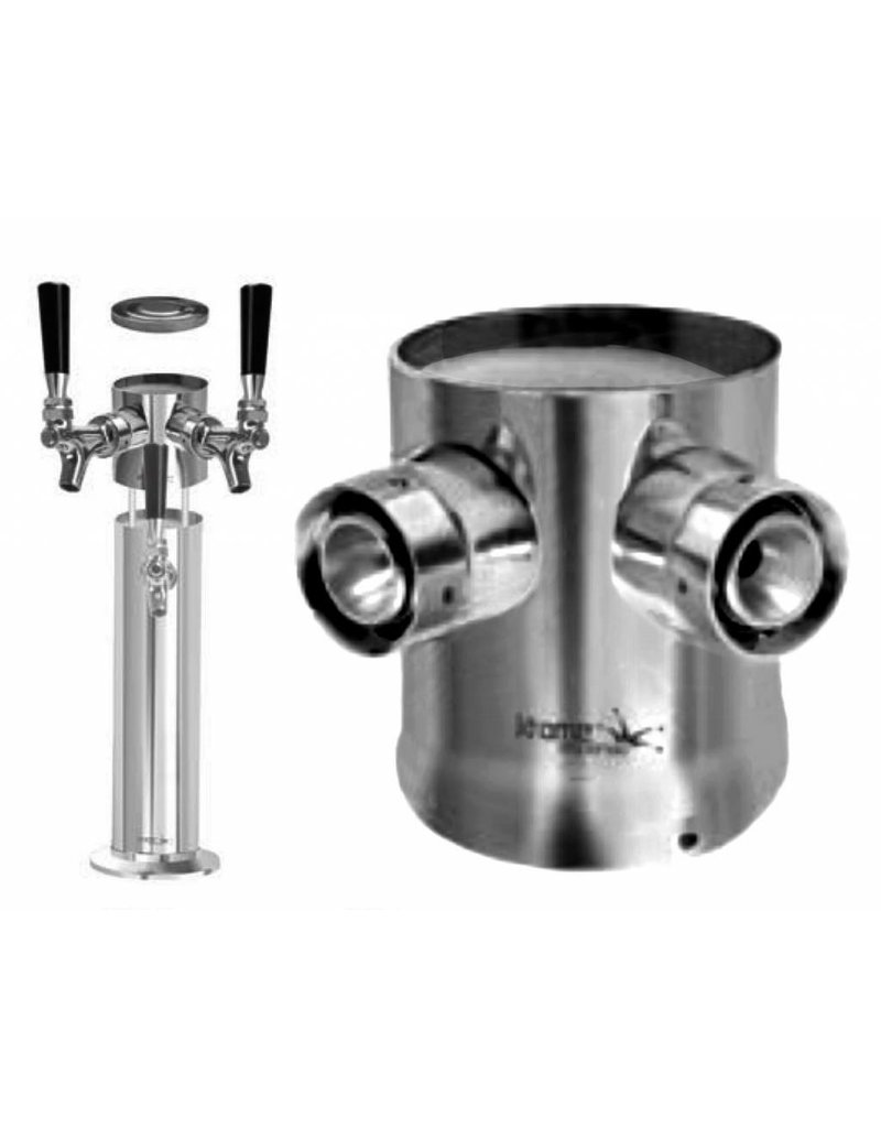 "2 Shank Expansion Kit 3"" Column Tower - Krome"