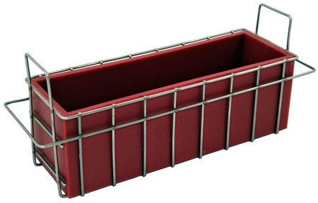 Red Silicone Soap Mold w/ Stainless Steel Stackable Basket