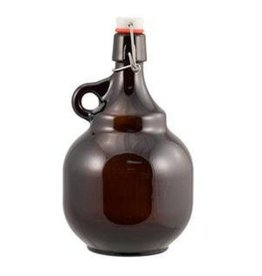 2 L Amber Flip-Top Palla Growlers - Beer Bottles Single