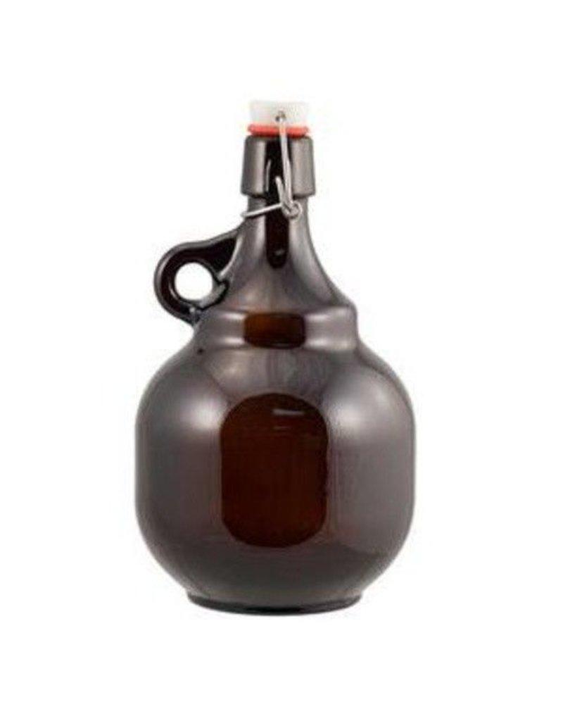 2 L Amber Flip-Top Palla Growlers - Beer Bottles Single