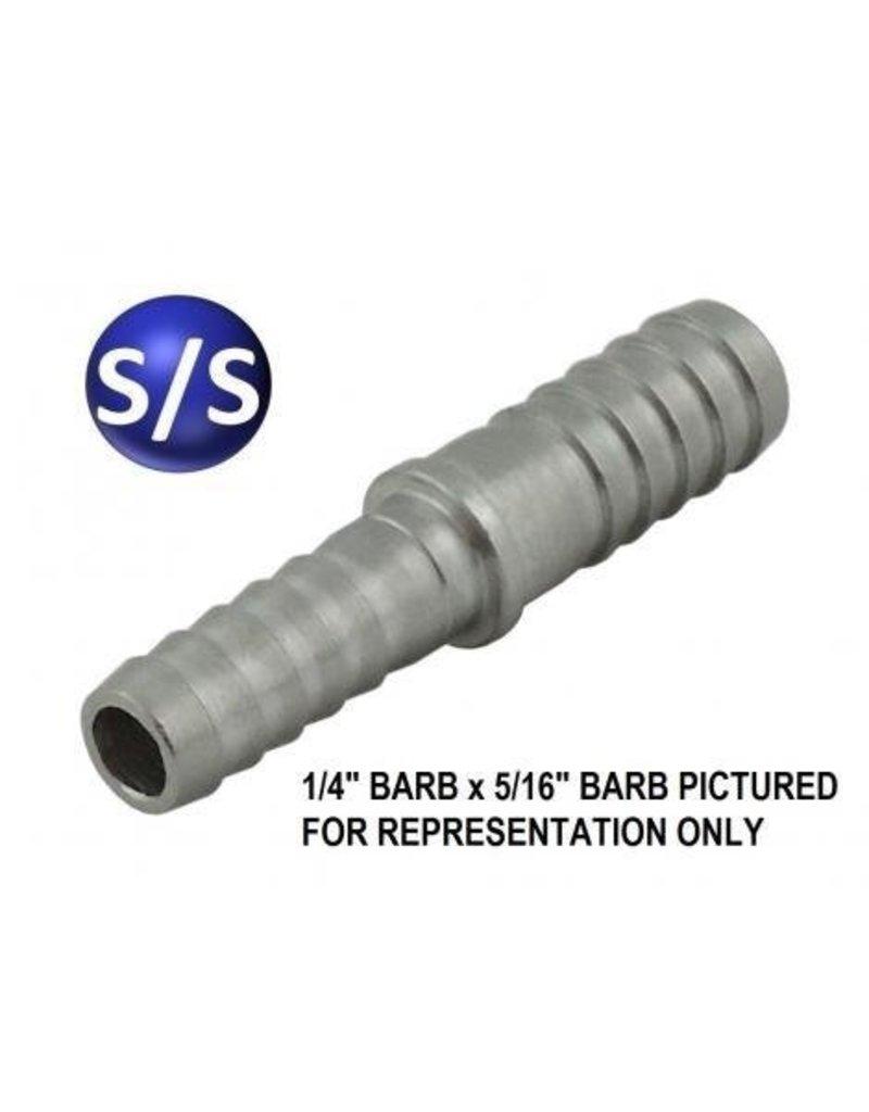 Hose Barb Splicer SS 3/16B X 1/4B