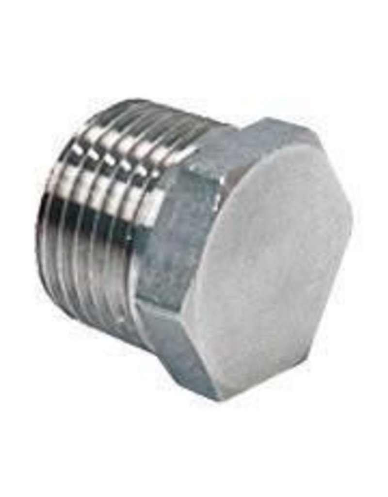 "1/2"" NPT SS Hex Plug for Kettles"
