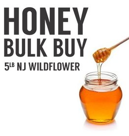 NJ Wildflower Bulk Honey Buy 5 Pounds