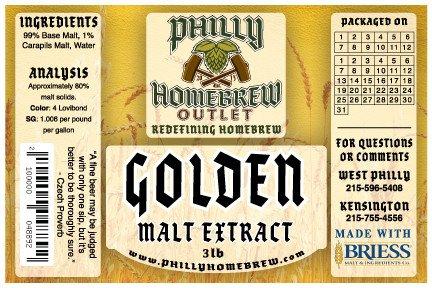 PHO 3lb Golden Light LME Malt Extract