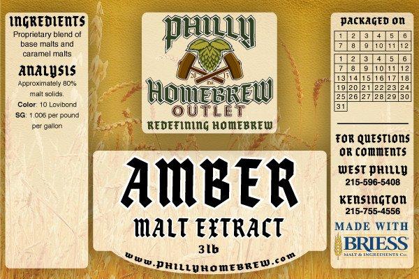PHO 3lb Sparkling Amber LME Malt Extract