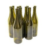 750 ML Champagne Green Punted Burgundy Bottles 12/Case