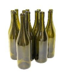 Champagne Green Punted 750ml Burgundy Bottles 12/Case
