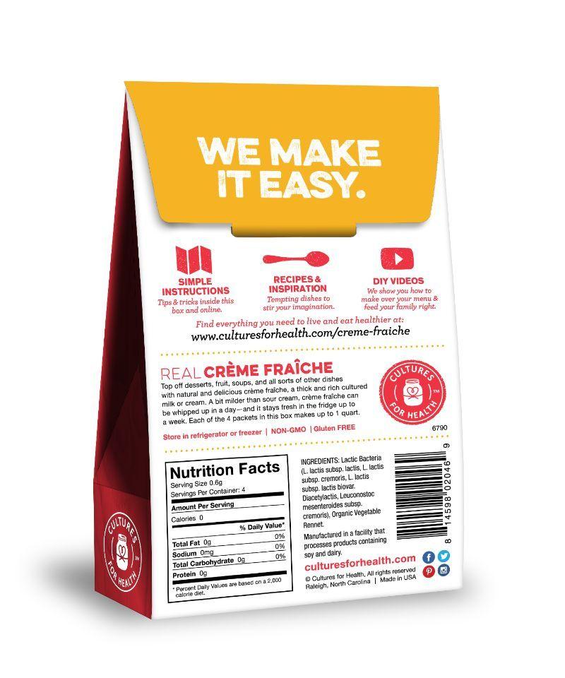 Creme Fraiche Starter Culture (Cultures for Health)