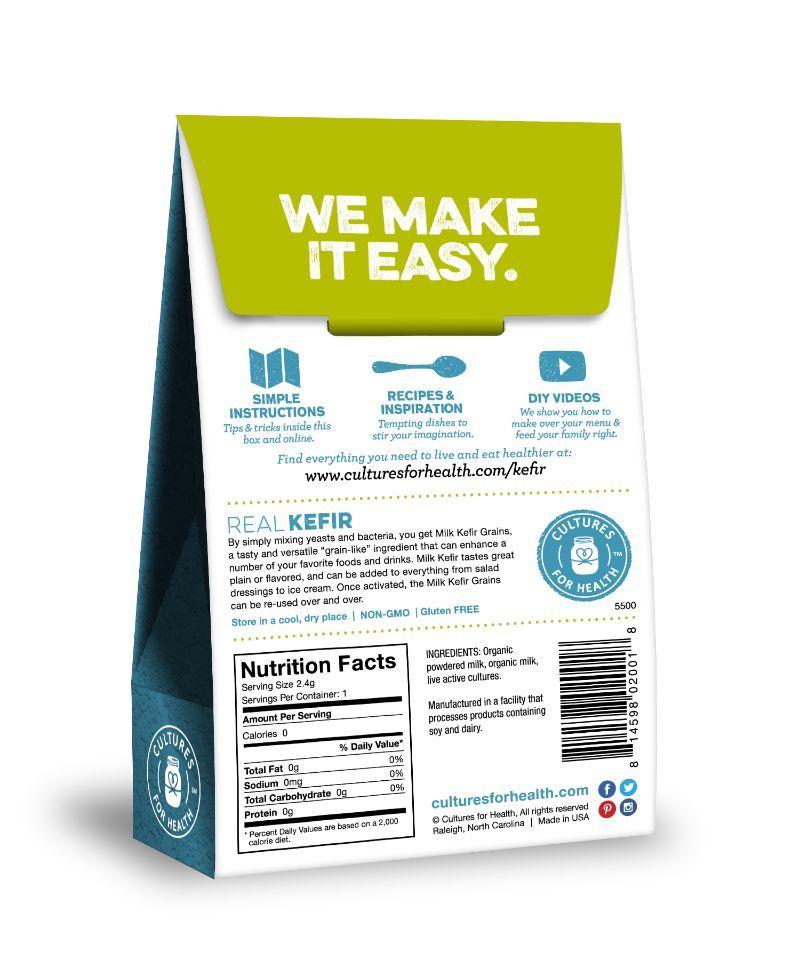 Milk Kefir Grains (Cultures for Health)